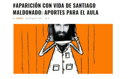 Santiago Maldonado aparece en las aulas