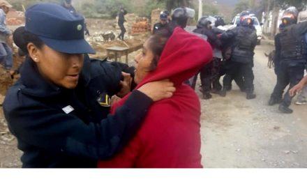 Brutal represión en una Comunidad diaguita