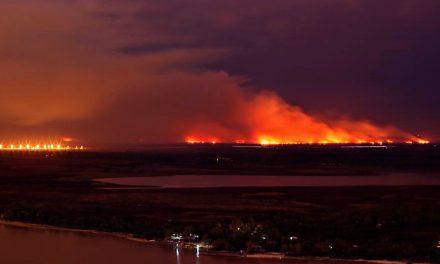 El Delta en llamas